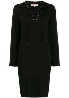 MICHAEL Michael Kors short lace-up dress