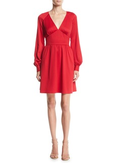 MICHAEL Michael Kors Short Raglan-Sleeve Cocktail Dress