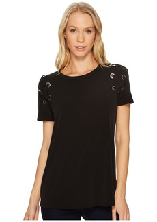 MICHAEL Michael Kors Short Sleeve Armhole Lacing Tee