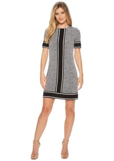 MICHAEL Michael Kors Short Sleeve Stingray Border Dress