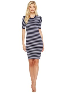 MICHAEL Michael Kors Short Sleeve Striped Tee Dress