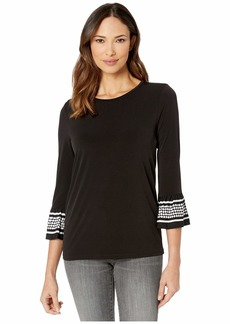 MICHAEL Michael Kors Simple Dot Flare Sleeve Shirt