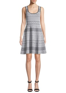 MICHAEL Michael Kors Sleeveless Fit-and-Flare Animal-Print Dress