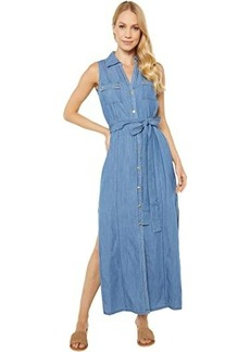 MICHAEL Michael Kors Sleeveless Maxi Shirtdress