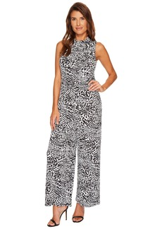 MICHAEL Michael Kors Sleeveless Mock Neck Jumpsuit