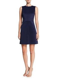MICHAEL Michael Kors Sleeveless Scuba Hardware Mini Dress