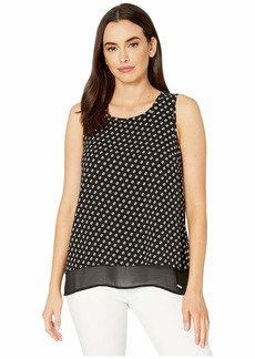 MICHAEL Michael Kors Sliced Dot Sleeveless Cut Out Top