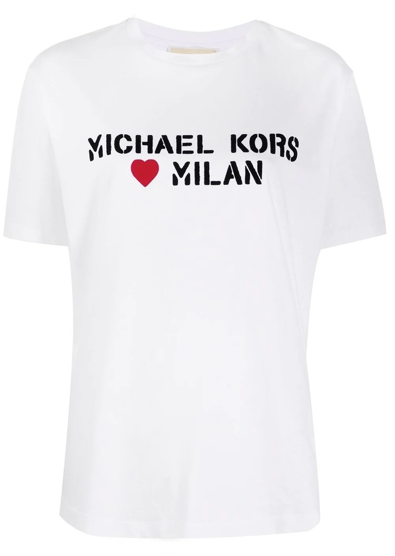 MICHAEL Michael Kors slogan print T-shirt