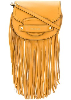 MICHAEL Michael Kors small Cary fringed saddle bag