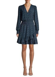 MICHAEL Michael Kors Smocked Print Ruffle Dress