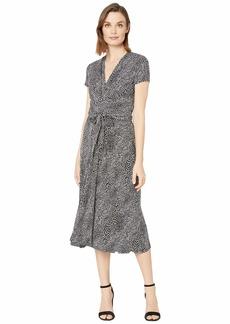 MICHAEL Michael Kors Snake Midi Wrap Dress