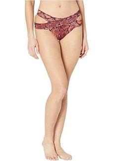 MICHAEL Michael Kors Snake Print Strappy Bikini Bottoms