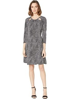 MICHAEL Michael Kors Snakestripe 3/4 Sleeve Dress