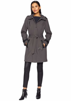 MICHAEL Michael Kors Snap Front Belted Softshell Coat M523004GZ