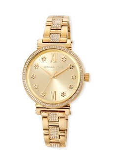 MICHAEL Michael Kors Sofie 36mm Crystal Bracelet Watch  Gold