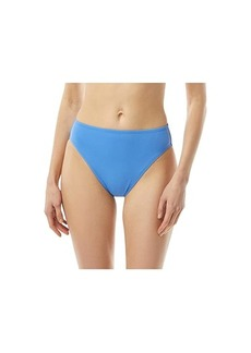 MICHAEL Michael Kors Solid High Leg Bikini Bottoms