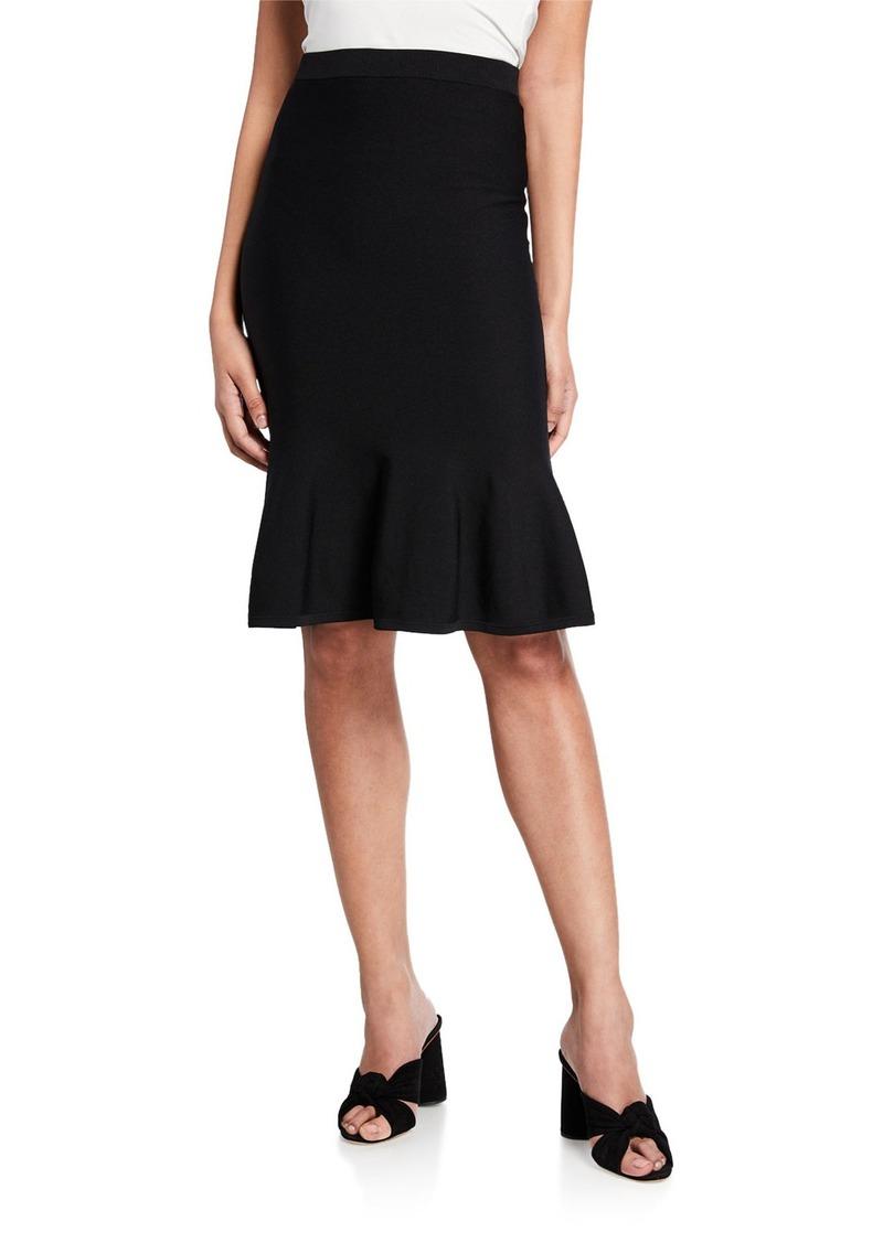 MICHAEL Michael Kors Solid Jersey Flare Skirt