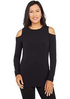 MICHAEL Michael Kors Solid Long Sleeve Cold-Shoulder