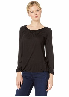 MICHAEL Michael Kors Solid Scoop Peasant Top