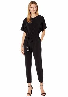 MICHAEL Michael Kors Solid Short Sleeve Dolman Jumpsuit