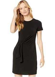MICHAEL Michael Kors Solid Short Sleeve Tie Twist Dress