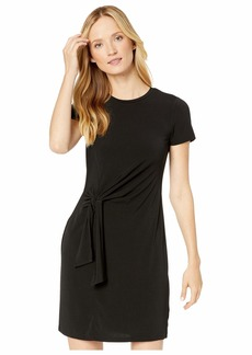 MICHAEL Michael Kors Solid Short Sleeve Tie Twist Dress
