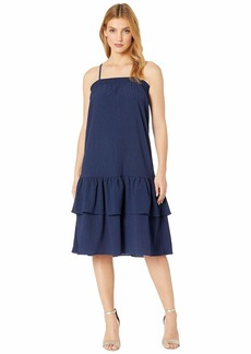 MICHAEL Michael Kors Solid Smock Neck Midi Dress