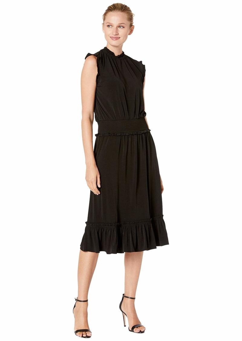 MICHAEL Michael Kors Solid Smocked Waist Dress