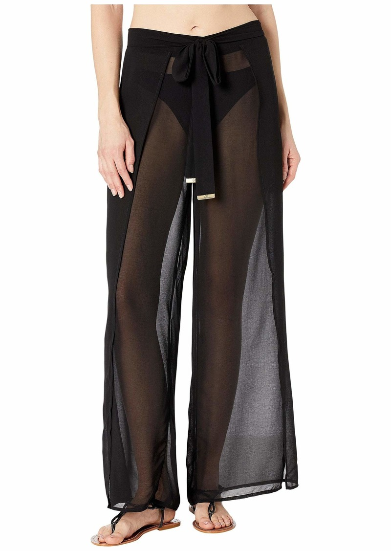 MICHAEL Michael Kors Solids Cover-Up Pants with Belt
