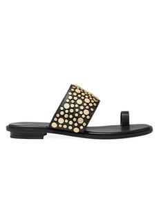 MICHAEL Michael Kors Sonya Flat Embellished Leather Sandals