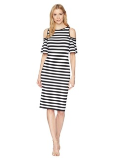 MICHAEL Michael Kors Stripe Off the Shoulder Dress