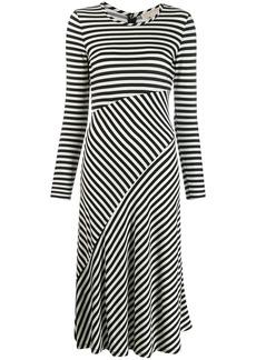 MICHAEL Michael Kors stripe panelled midi dress