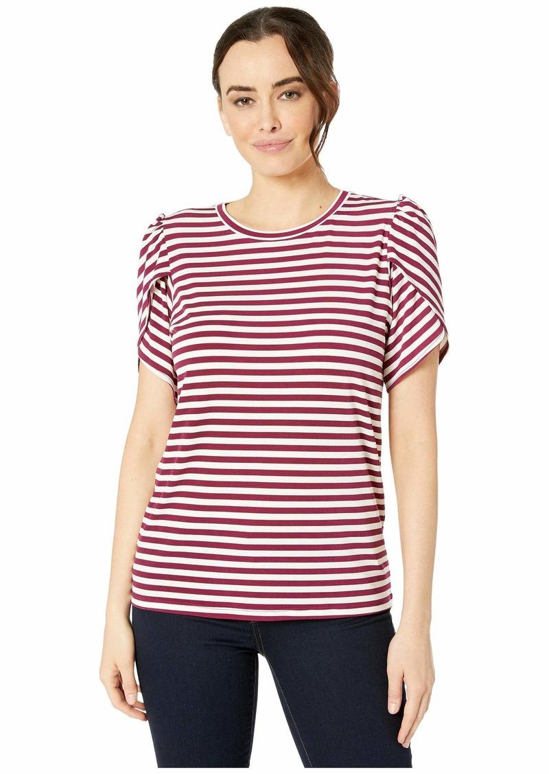 MICHAEL Michael Kors Stripe Petal Sleeve T-Shirt