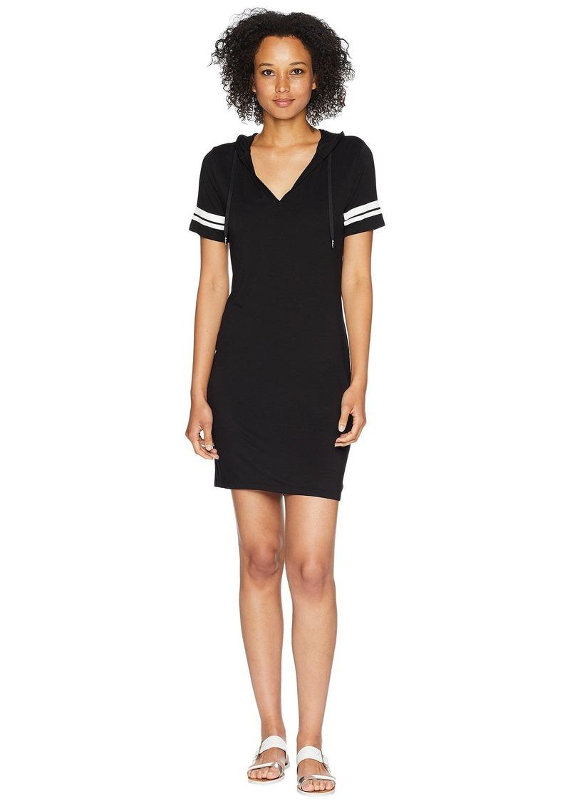 MICHAEL Michael Kors Stripe Sleeve Hoodie Dress