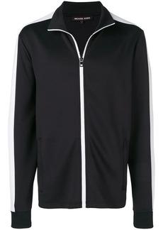 MICHAEL Michael Kors stripe trim zipped sweatshirt