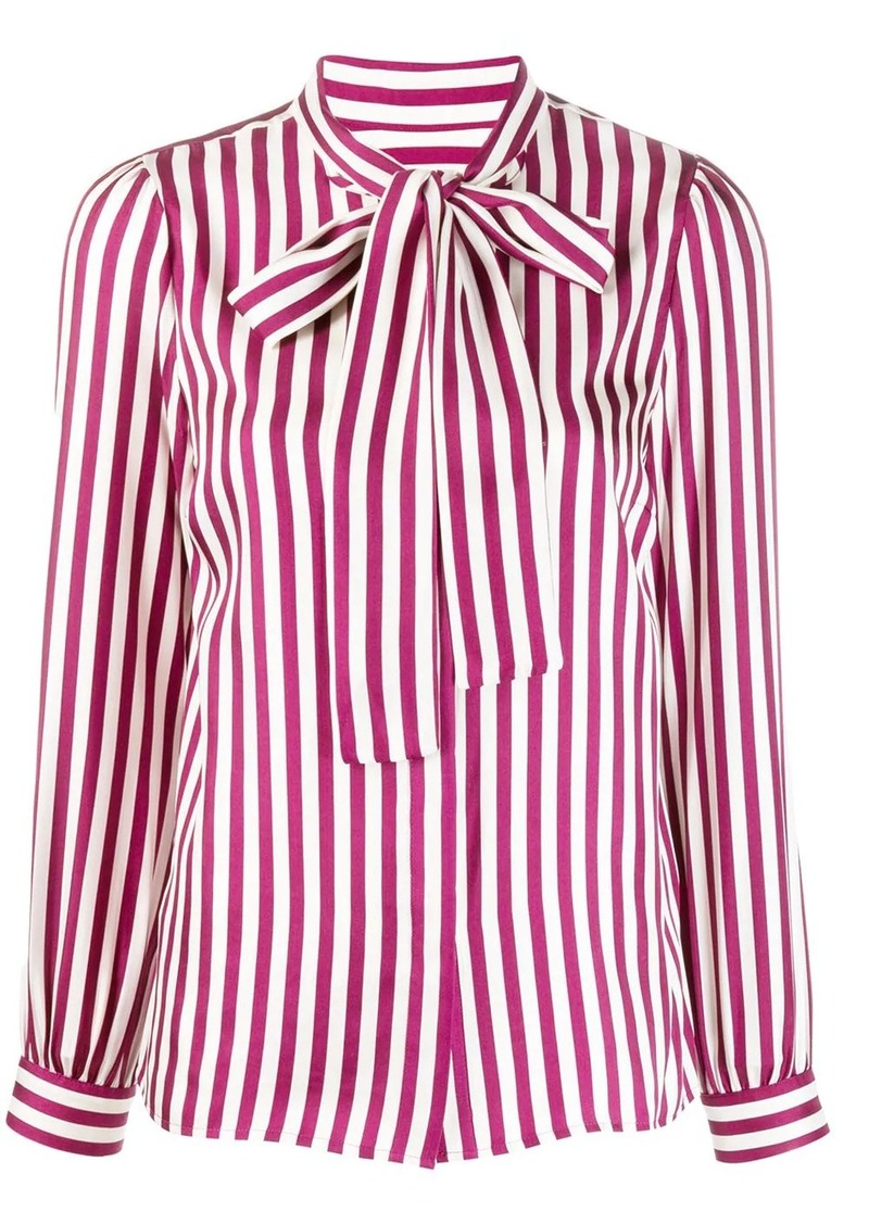 MICHAEL Michael Kors striped satin shirt