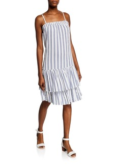 MICHAEL Michael Kors Striped Spaghetti-Strap Smock Slip Dress