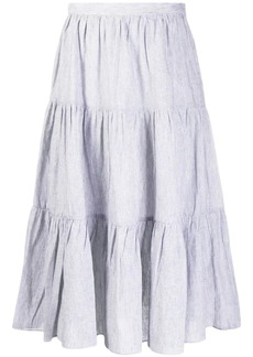 MICHAEL Michael Kors striped tiered midi skirt