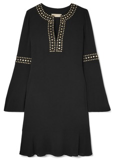 MICHAEL Michael Kors Stud-embellished Crepe Mini Dress