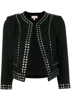 MICHAEL Michael Kors stud embellished fitted jacket