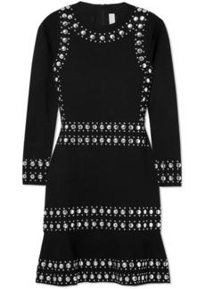 MICHAEL Michael Kors Stud-embellished Stretch-knit Mini Dress