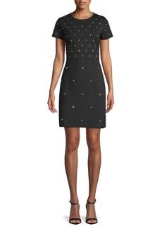 MICHAEL Michael Kors Stud Sheath Dress