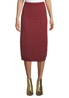 MICHAEL Michael Kors Studded Argyle Slim Knit Skirt