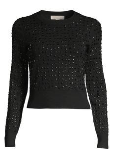 MICHAEL Michael Kors Studded Crop Sweater