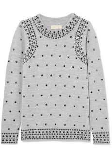 MICHAEL Michael Kors Studded Wool And Alpaca-blend Sweater