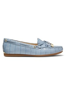 MICHAEL Michael Kors Sutton Croc-Embossed Leather Mocassin Loafers