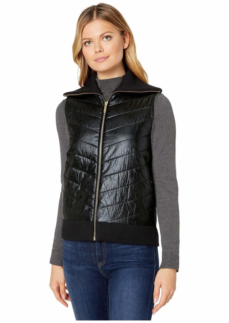 MICHAEL Michael Kors Sweater Back Puffer Vest