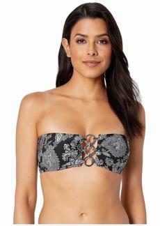 MICHAEL Michael Kors Sweetheart Paisley Bandeau Bikini Top