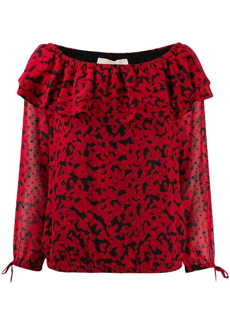 MICHAEL Michael Kors swiss dot bardot blouse