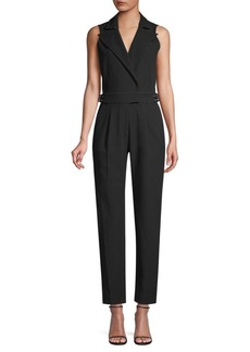 MICHAEL Michael Kors Tailored Belted Sleeveless Jumpsuit